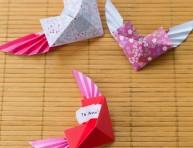 imagen Corazones de origami con alas