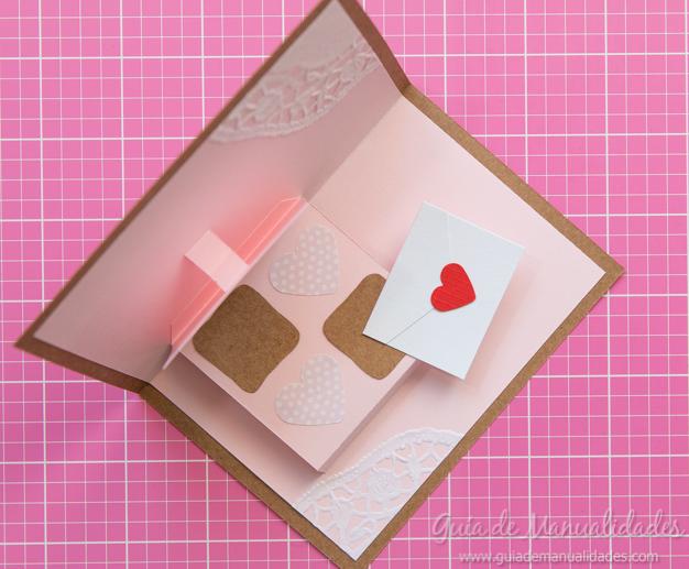 Tarjeta pop up de amor 18