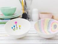 imagen Bols decorados con marcadores para cerámica