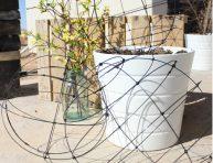 imagen Cómo hacer esferas de alambre para el jardín