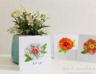 imagen Tarjetas con flores de cintas washi