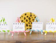 imagen Identificadores de fiesta con sorbetes de colores