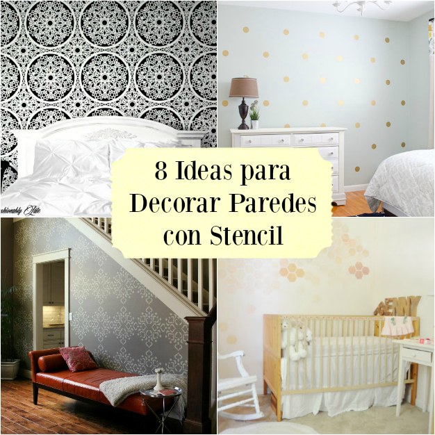 8 ideas diy para decorar paredes con stencil gu a de for Disenos para decorar paredes de dormitorios