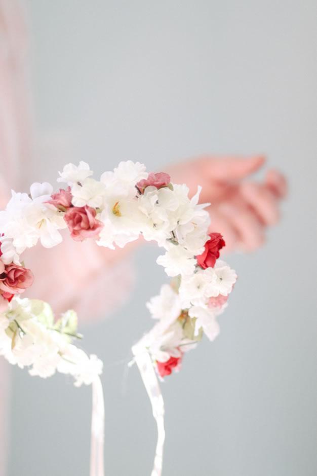 diadema flores 1 - Como Hacer Diademas De Flores