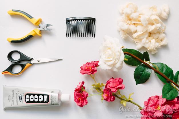 zapatos de temperamento incomparable bonita y colorida Peineta con flores para lucirte en toda ocasión - Guía de ...