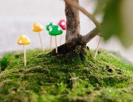 imagen Mini hongos para decorar jardines de fantasía