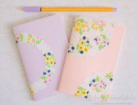 imagen Cuadernos decorados con blondas de papel