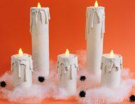 imagen Velas de Halloween con tubos de cartón