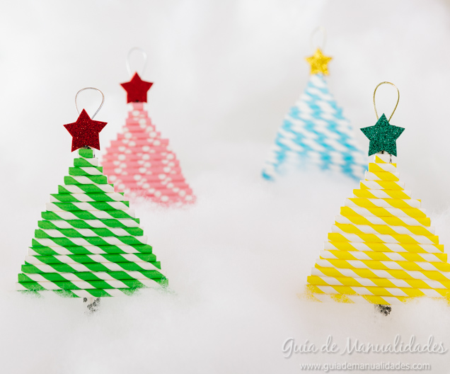 Arbolitos navide os con sorbetes de colores gu a de - Como se decora un arbol de navidad ...