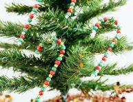 imagen Bastoncitos con cuentas para el árbol de Navidad