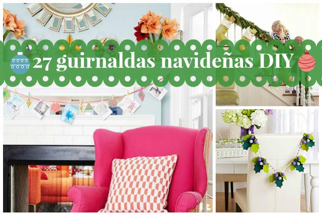 27 ideas inspiradoras de guirnaldas navide as gu a de manualidades - Guirnaldas navidad manualidades ...