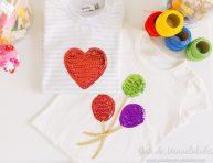 imagen Decora camisetas con lentejuelas y pegamento