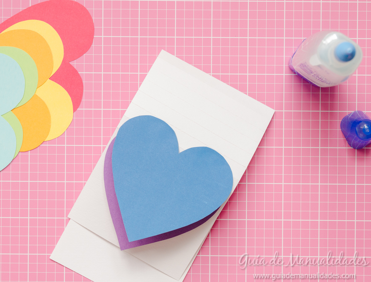 Tarjeta de corazones m viles gu a de manualidades - Como hacer color turquesa ...