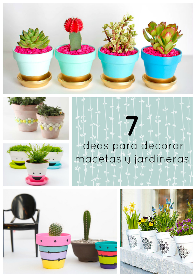 7 ideas para decorar tus macetas o jardineras esta for Ideas para decorar jardineras
