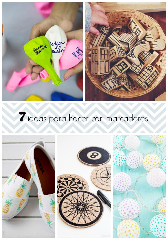 7 ideas para hacer con marcadores gu a de manualidades - Ideas para construir mi casa ...