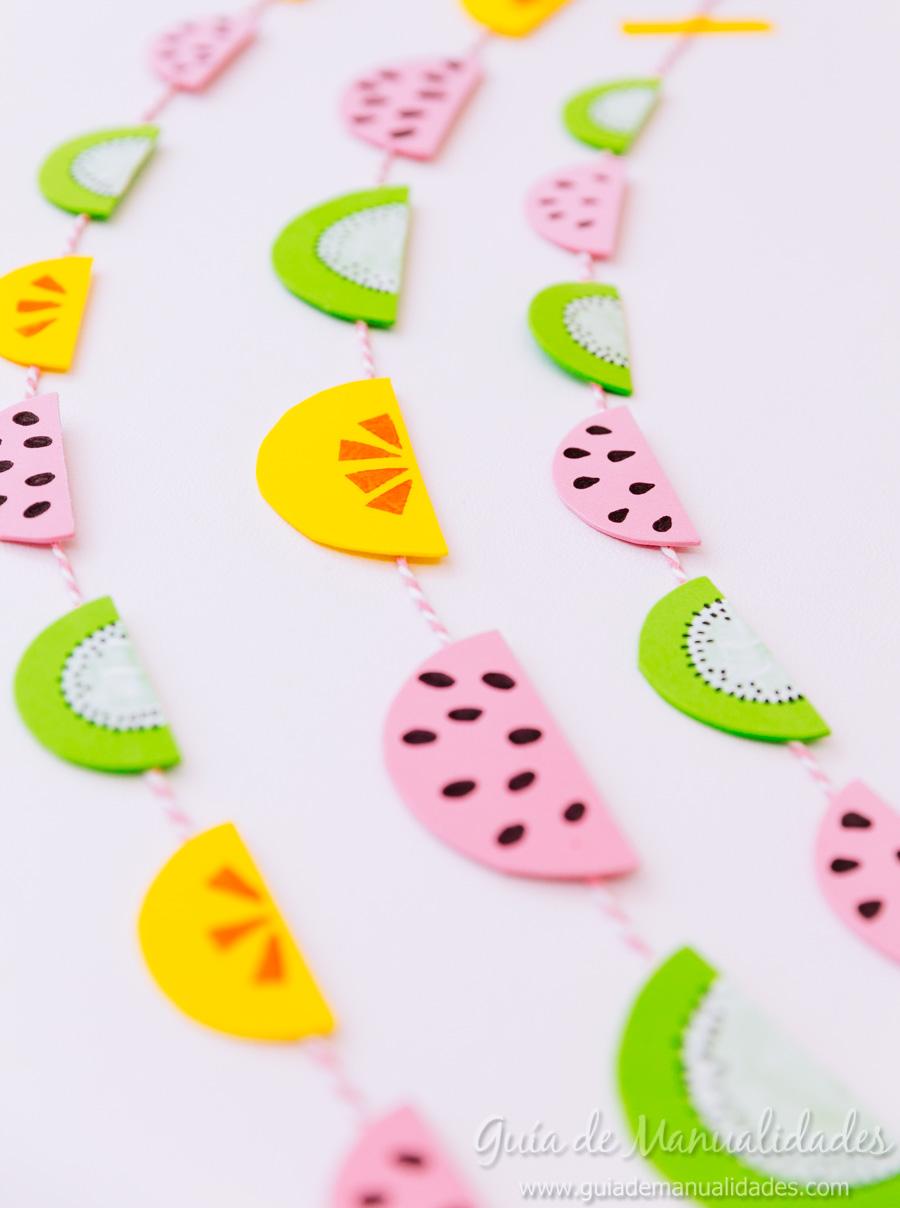 Guirnaldas de frutas para fiestas gu a de manualidades - Guirnaldas para fiestas infantiles ...