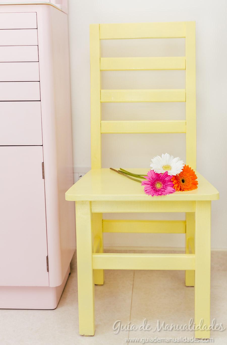 Mi nueva silla para la habitaci n de manualidades gu a de manualidades - Manualidades para la habitacion ...