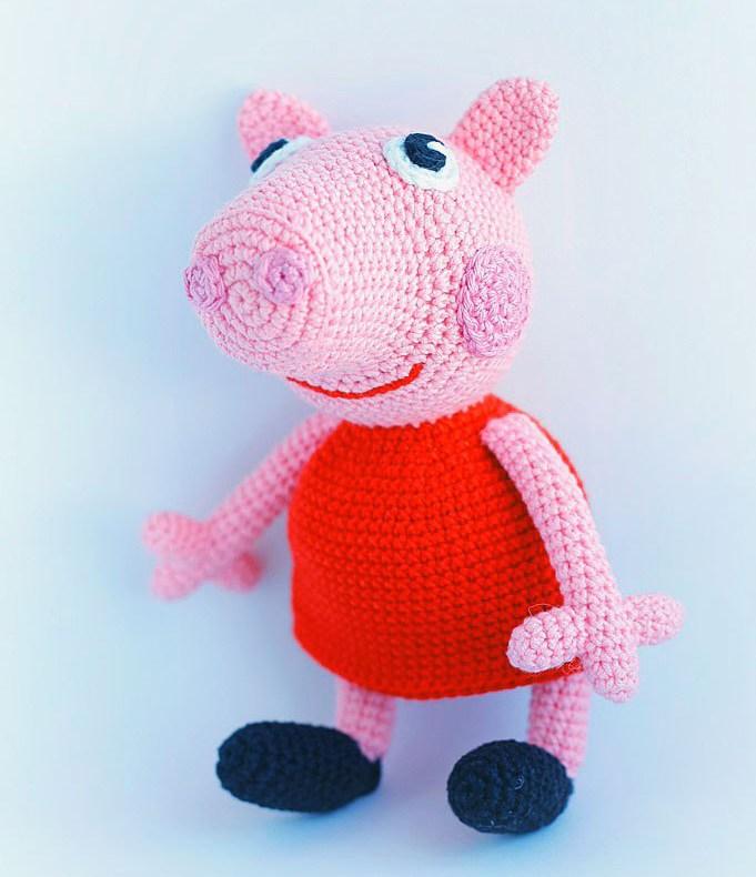 Patrón AMIGURIMI Gratis de Peppa Pig | 790x681