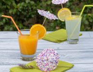 imagen Sombrillitas confetti para fiestas