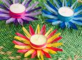 imagen Flores de cintas para decorar con velas tu mesa