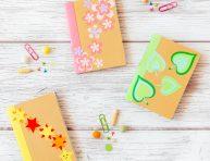 imagen Libretas decoradas con diseños de papel