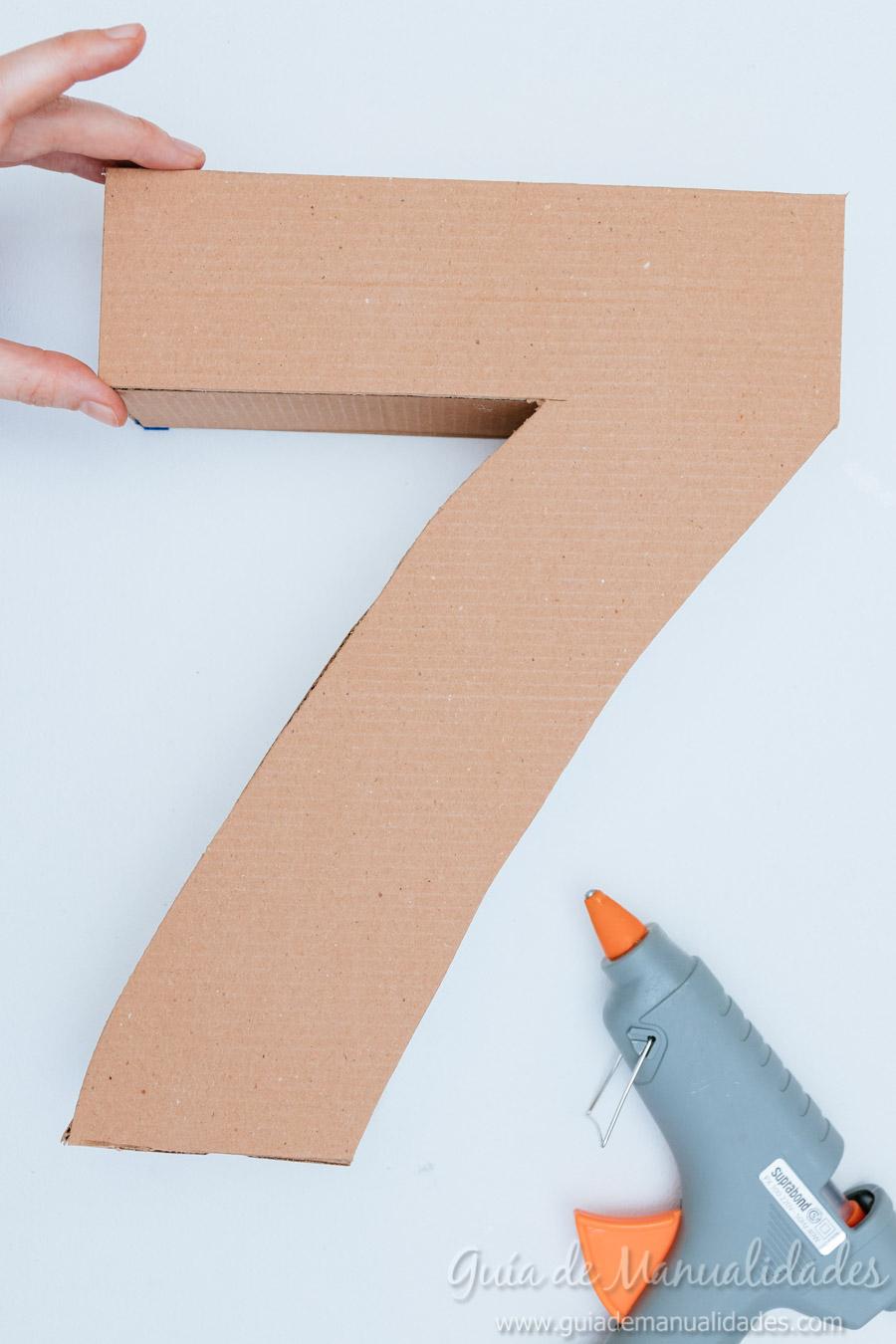 Números de cartón y papel para fiestas - Guía de MANUALIDADES - photo#47
