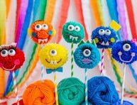 imagen Monstruitos de lana para jugar
