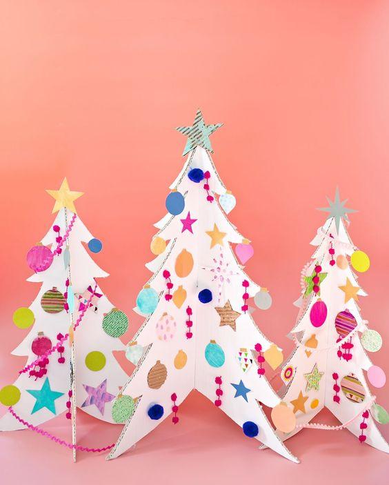 13 Ideas Para Hacer Un Arbol De Navidad De Carton Guia De Manualidades - Hacer-arboles-de-navidad
