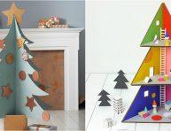 imagen 13 ideas para hacer un árbol de Navidad de cartón