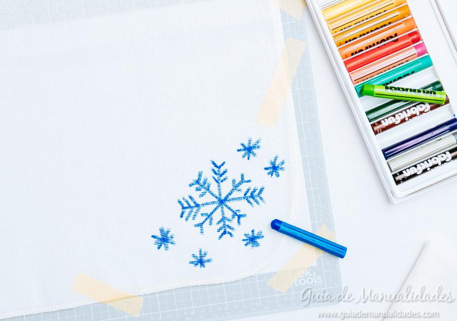 Servilletas navide as con los dibujos de los peques gu a - Servilletas de papel decoradas para manualidades ...