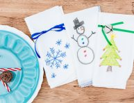 imagen Servilletas navideñas con los dibujos de los peques