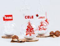 imagen Identificadores de lugar para invitados a la cena de Navidad
