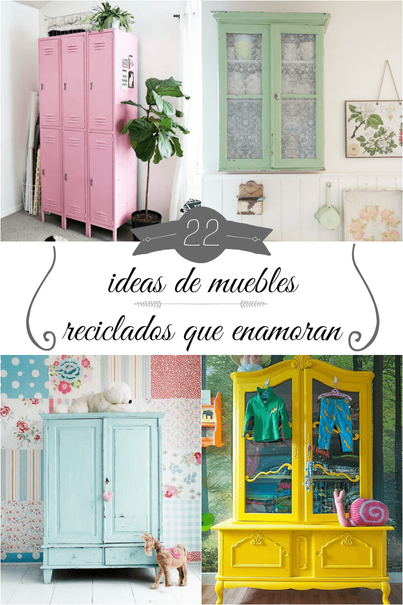 22 ideas de muebles reciclados que enamoran gu a de for Ideas de muebles