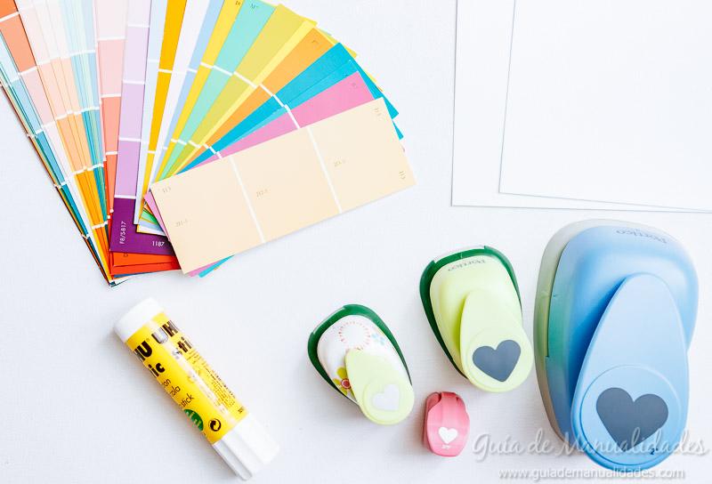 3 tarjetas rom nticas sencillas con muestras de pintura for Muestras de colores de pintura