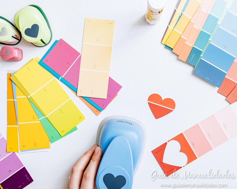 3 tarjetas romnticas sencillas con muestras de pintura Gua de