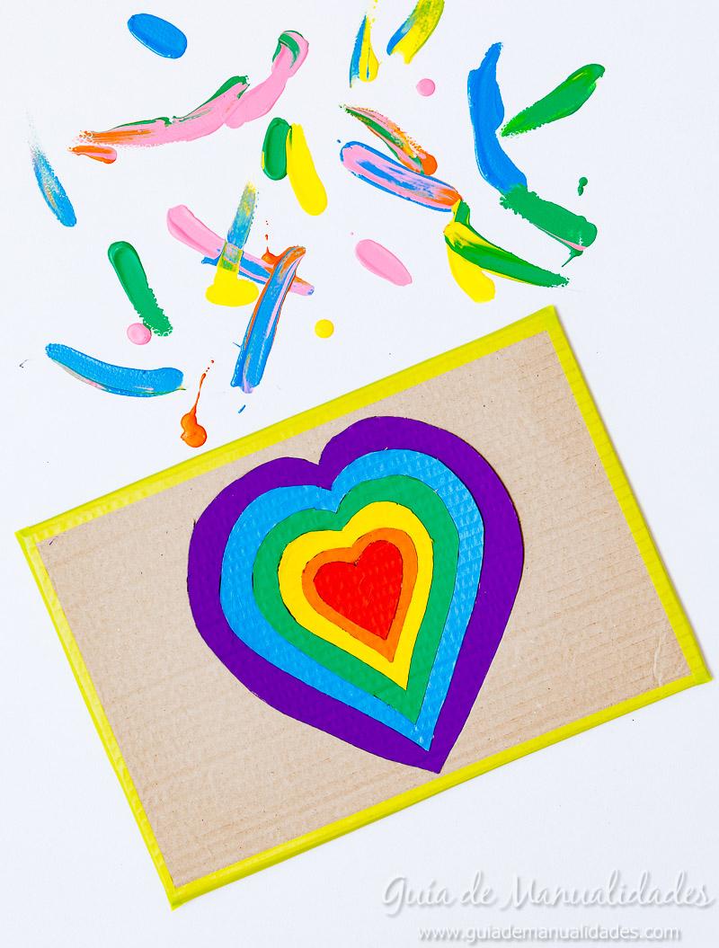 Puzzle corazones de cartón - Guía de MANUALIDADES