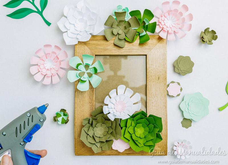 Mini jardín vertical con suculentas de papel - Guía de MANUALIDADES