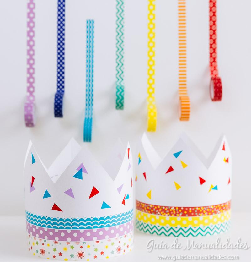 coronas diy decoradas con washi tapes 1