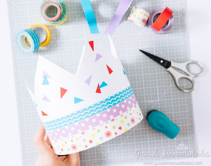 coronas diy decoradas con washi tapes 7