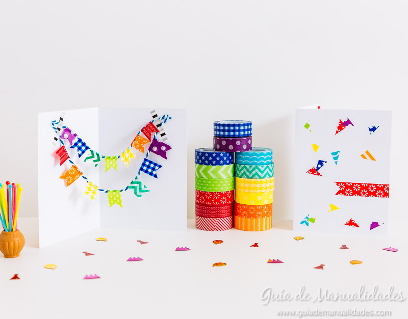 tarjetas con washi tapes 1