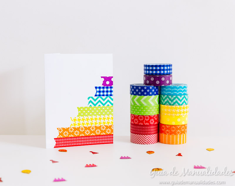 tarjetas con washi tapes 17