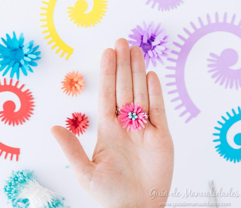 flores enrollables de papel 13