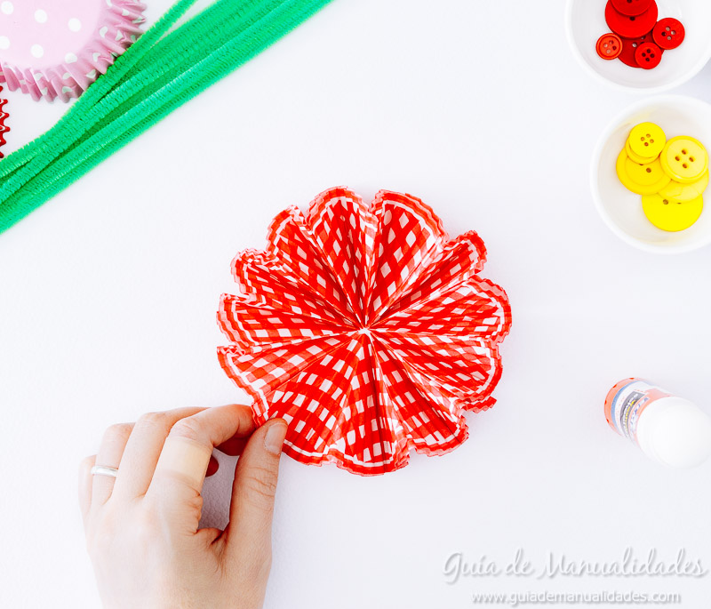 flores con moldes para cupcakes 14