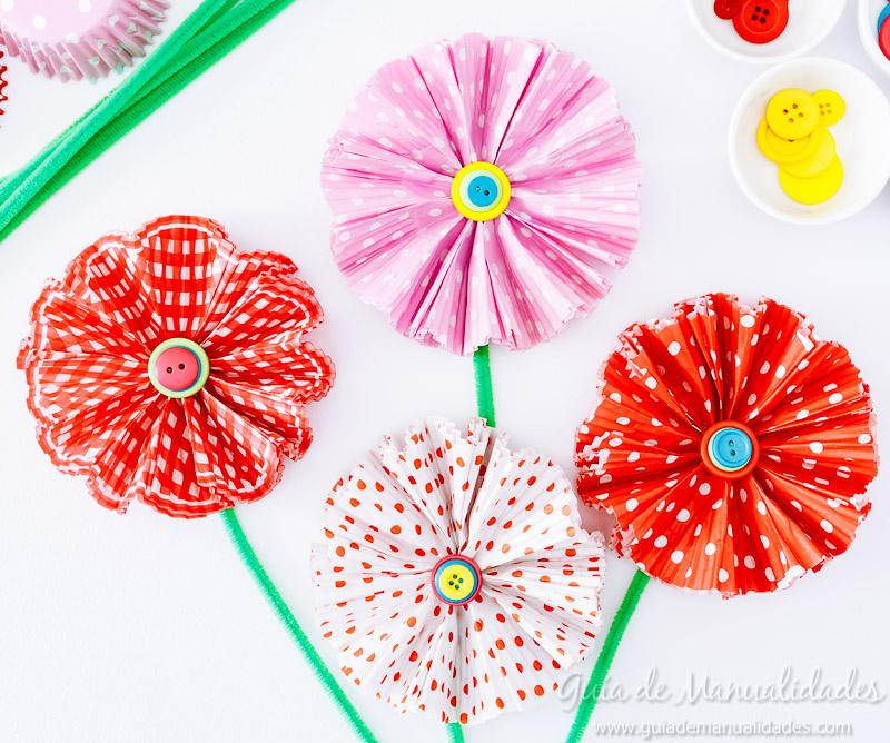 flores con moldes para cupcakes 21