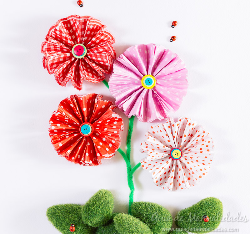flores con moldes para cupcakes 22