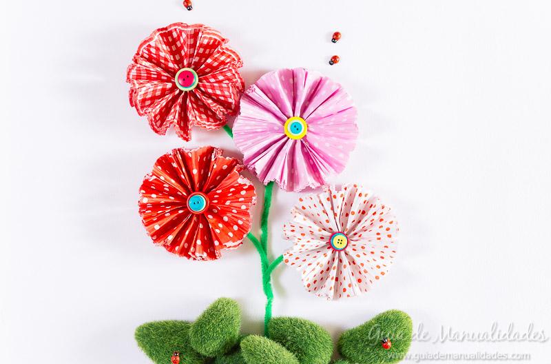flores con moldes para cupcakes 23