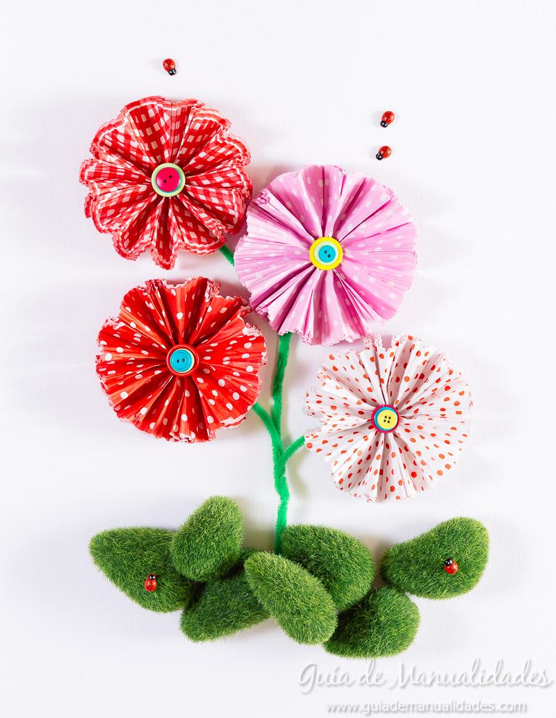 flores con moldes para cupcakes 24