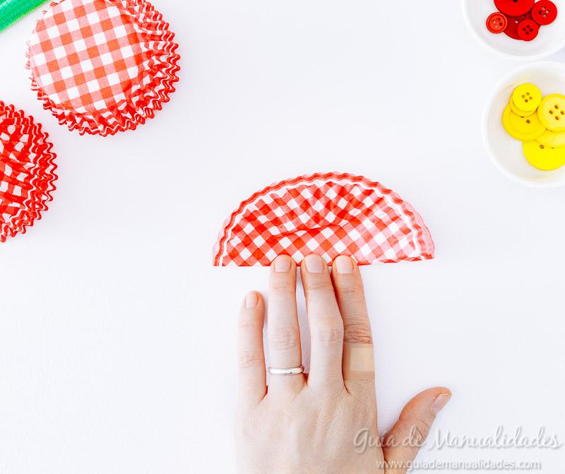 flores con moldes para cupcakes 4