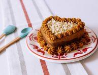 imagen Torta marmolada con chips de chocolate blanco