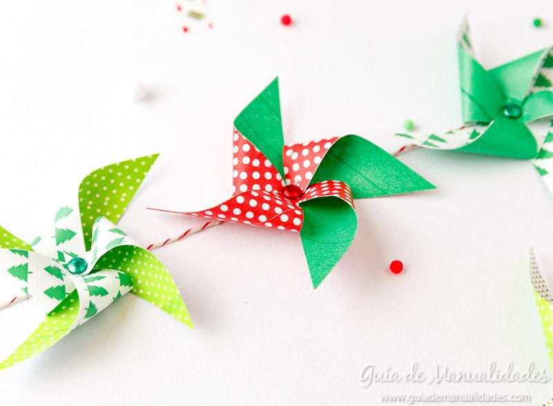Molinillos navideños con cintas washi 11